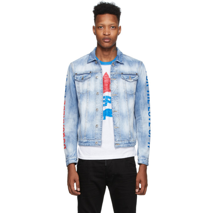 Photo: Dsquared2 Blue Pepsi Edition Denim Jacket