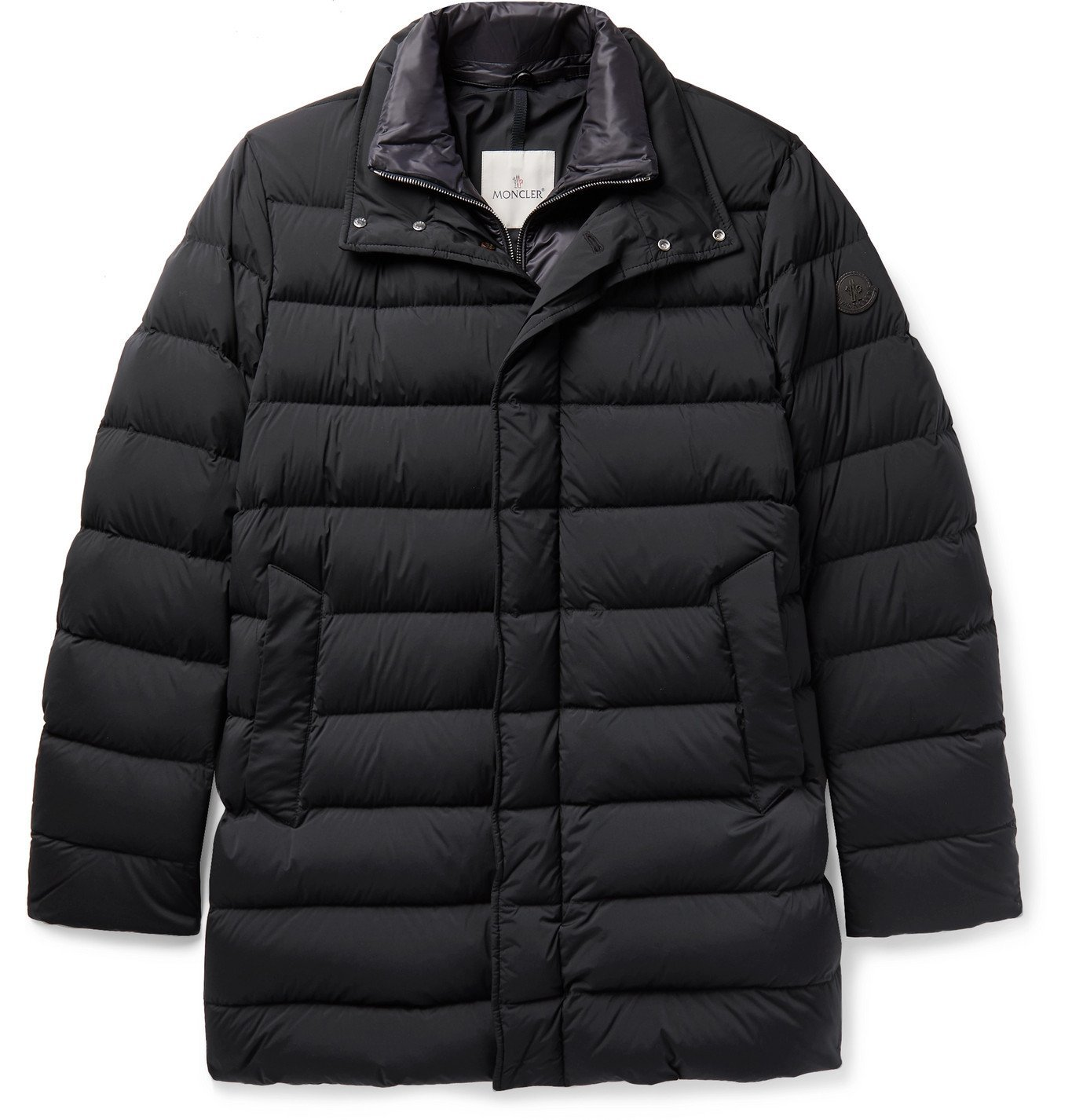 Photo: Moncler - Bornes Slim-Fit Quilted Shell Down Coat - Blue