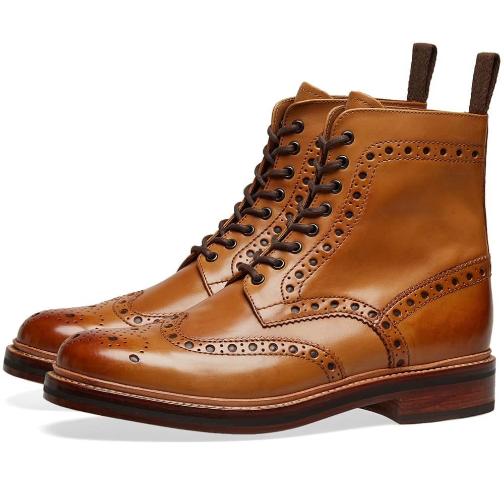 Photo: Grenson Fred Brogue Boot Tan