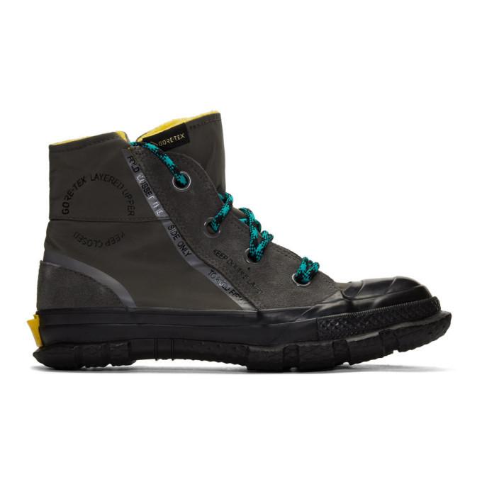 Photo: Converse Grey Chuck Taylor MC18 High-Top Sneakers