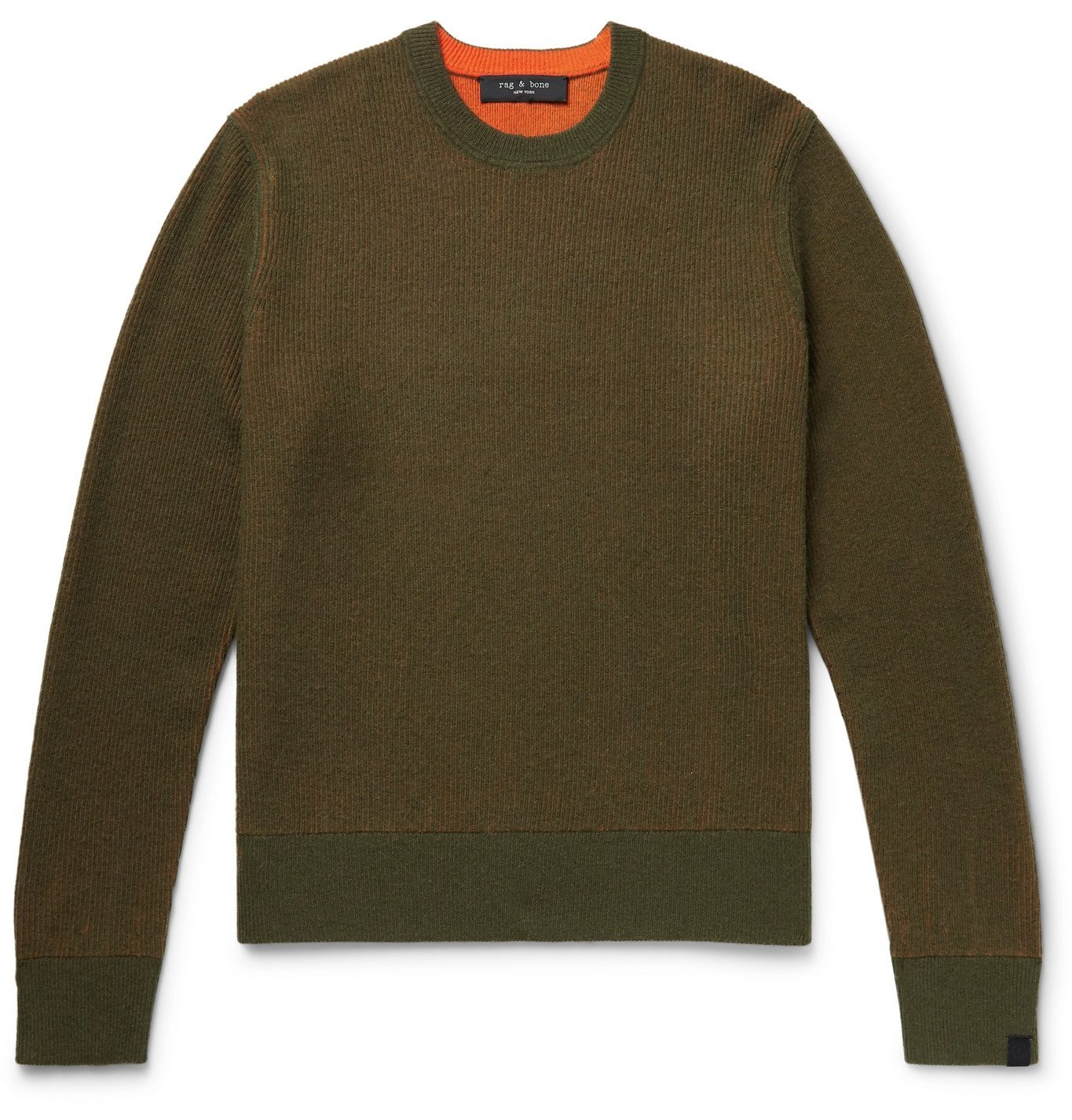Photo: RAG & BONE - Finch Reversible Wool and Cashmere-Blend Sweater - Green
