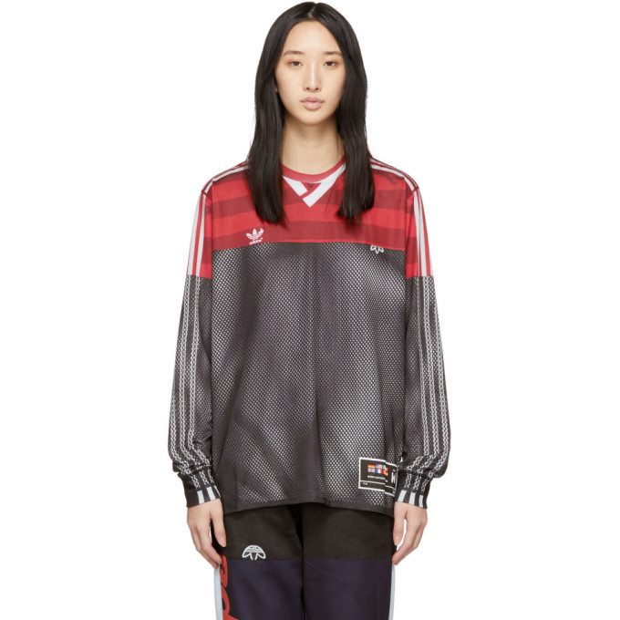 136608ad279d adidas Originals by Alexander Wang Pink and Black Photocopy Long Sleeve T- Shirt