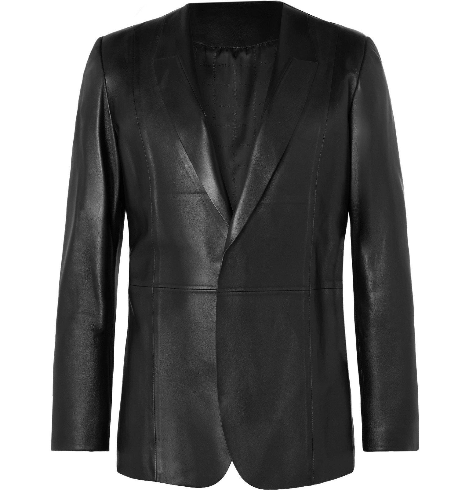 Photo: 1017 ALYX 9SM - Slim-Fit Leather Blazer - Black