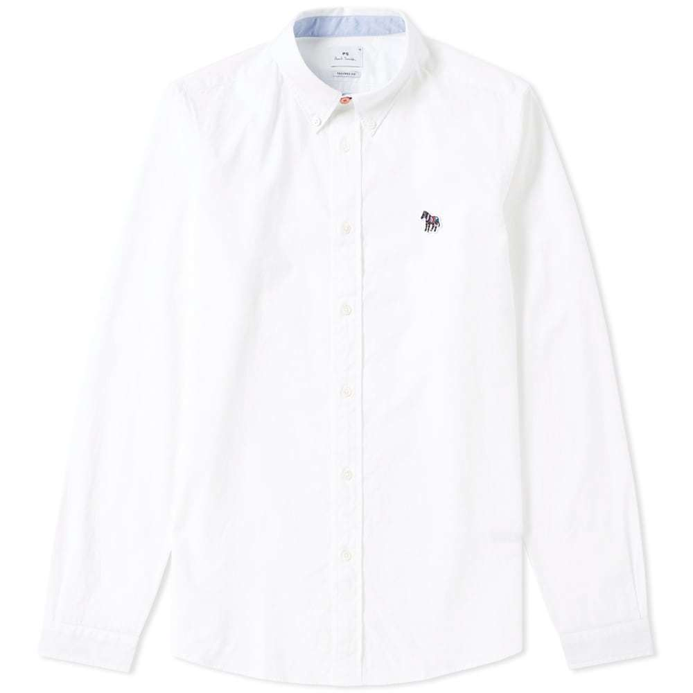 Photo: Paul Smith Button Down Zebra Oxford Shirt White
