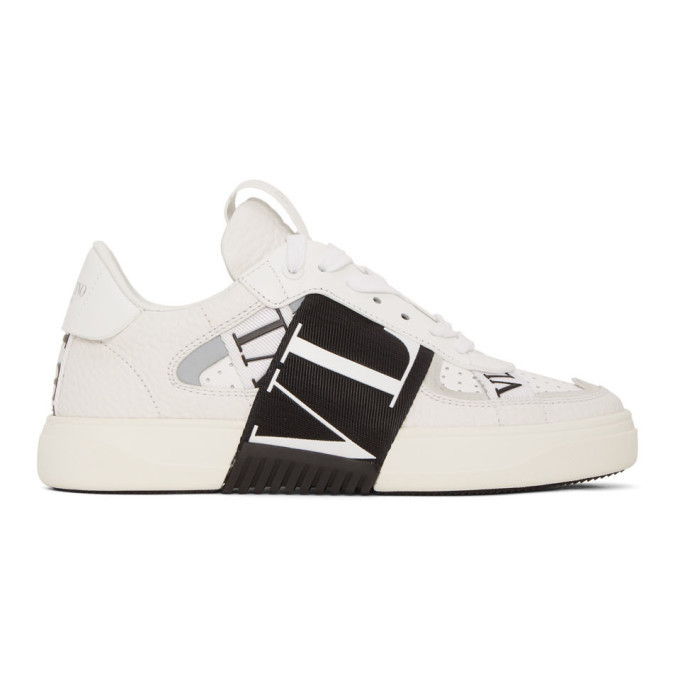 Photo: Valentino White Valentino Garavani Elastic Low-Top Sneakers