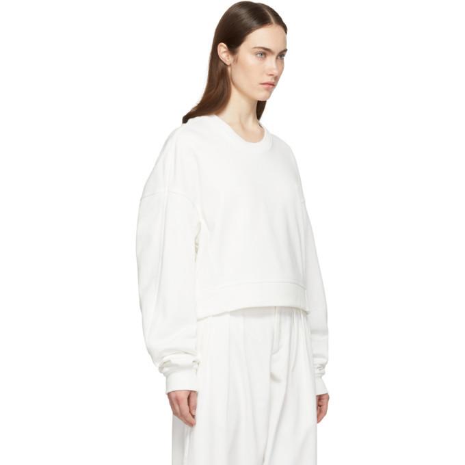 Y-3 White Yohji Love Sweatshirt