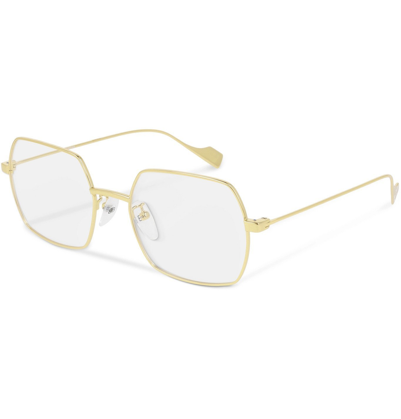 Photo: Balenciaga - Square-Frame Gold-Tone Optical Glasses - Gold