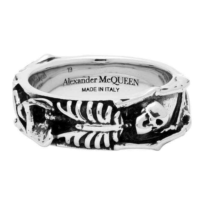 Photo: Alexander McQueen Silver Dancing Skeleton Ring