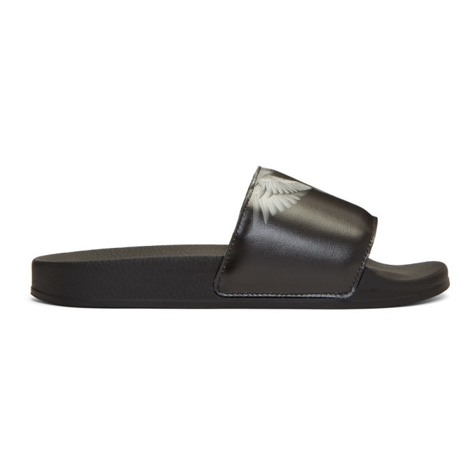 Photo: Marcelo Burlon County of Milan Black Wing Slides