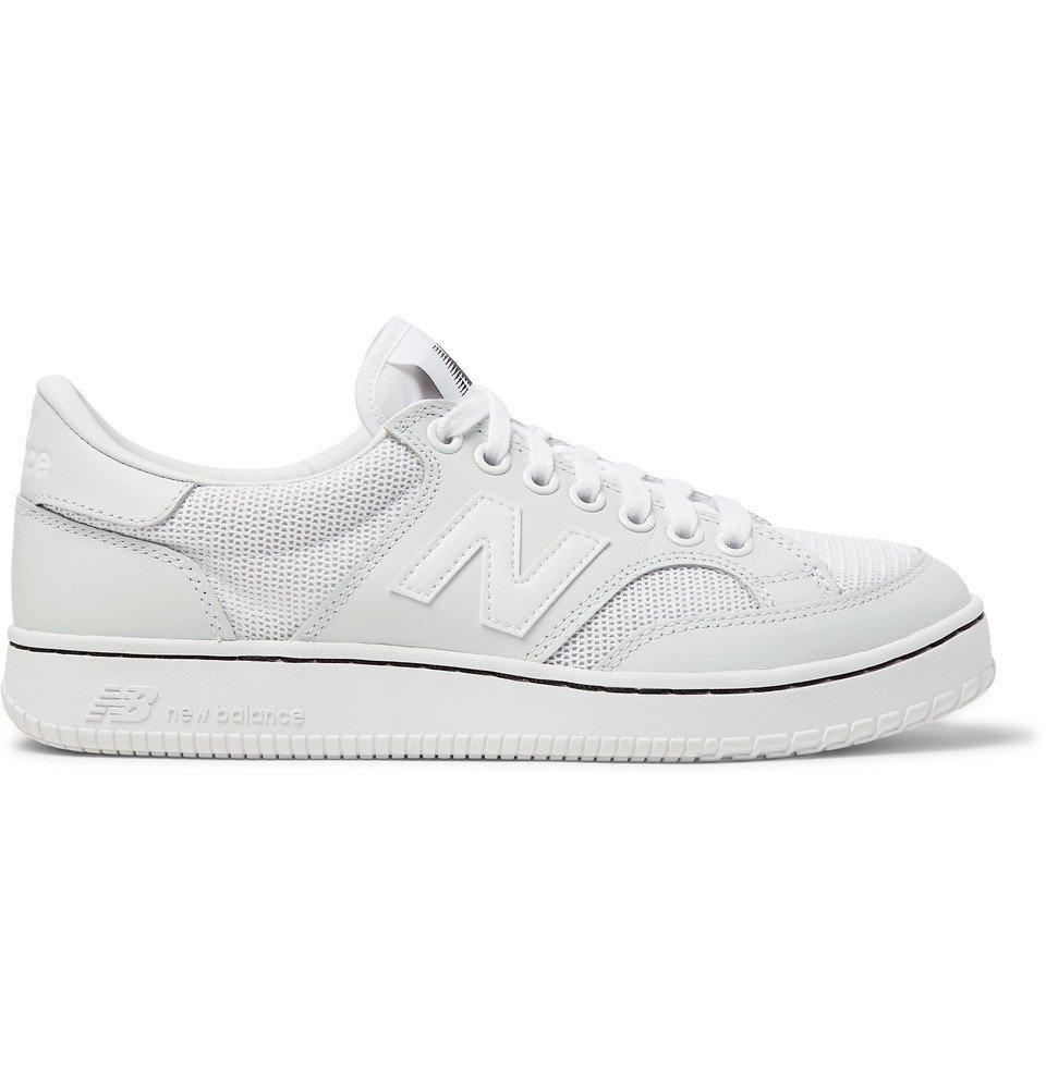 Photo: Junya Watanabe - New Balance CT400 Leather and Mesh Sneakers - White