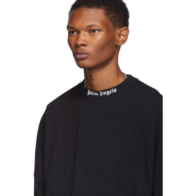 Palm Angels Black Logo Long Sleeve T-Shirt