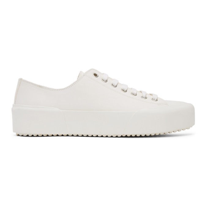 Photo: Jil Sander Off-White Leather Sneakers
