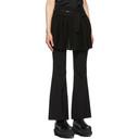 Sacai Black Pleated Skirt Logo Belt Trousers