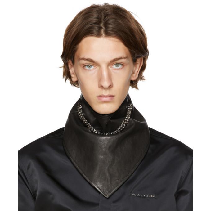 Photo: 1017 ALYX 9SM Black Leather Chain Bandana
