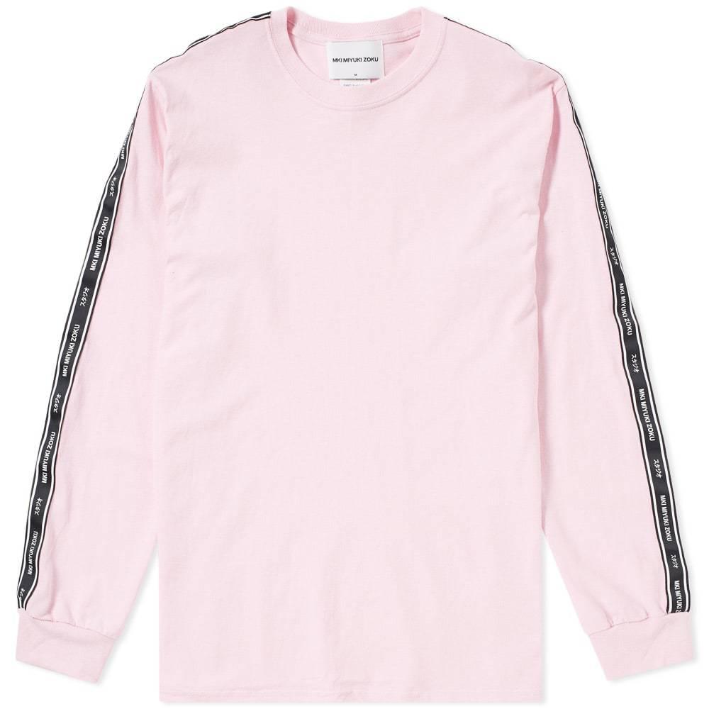 Photo: MKI Long Sleeve Tape Tee Pink