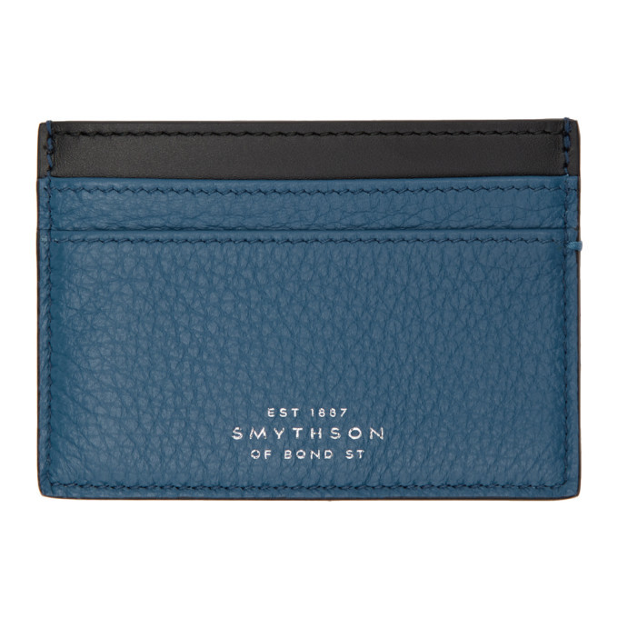 Smythson Blue Burlington Card Holder