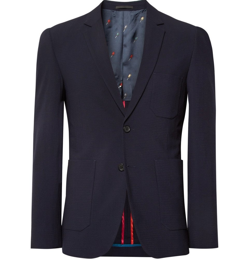 Photo: PS by Paul Smith - Midnight-Blue Slim-Fit Wool Blazer - Midnight blue