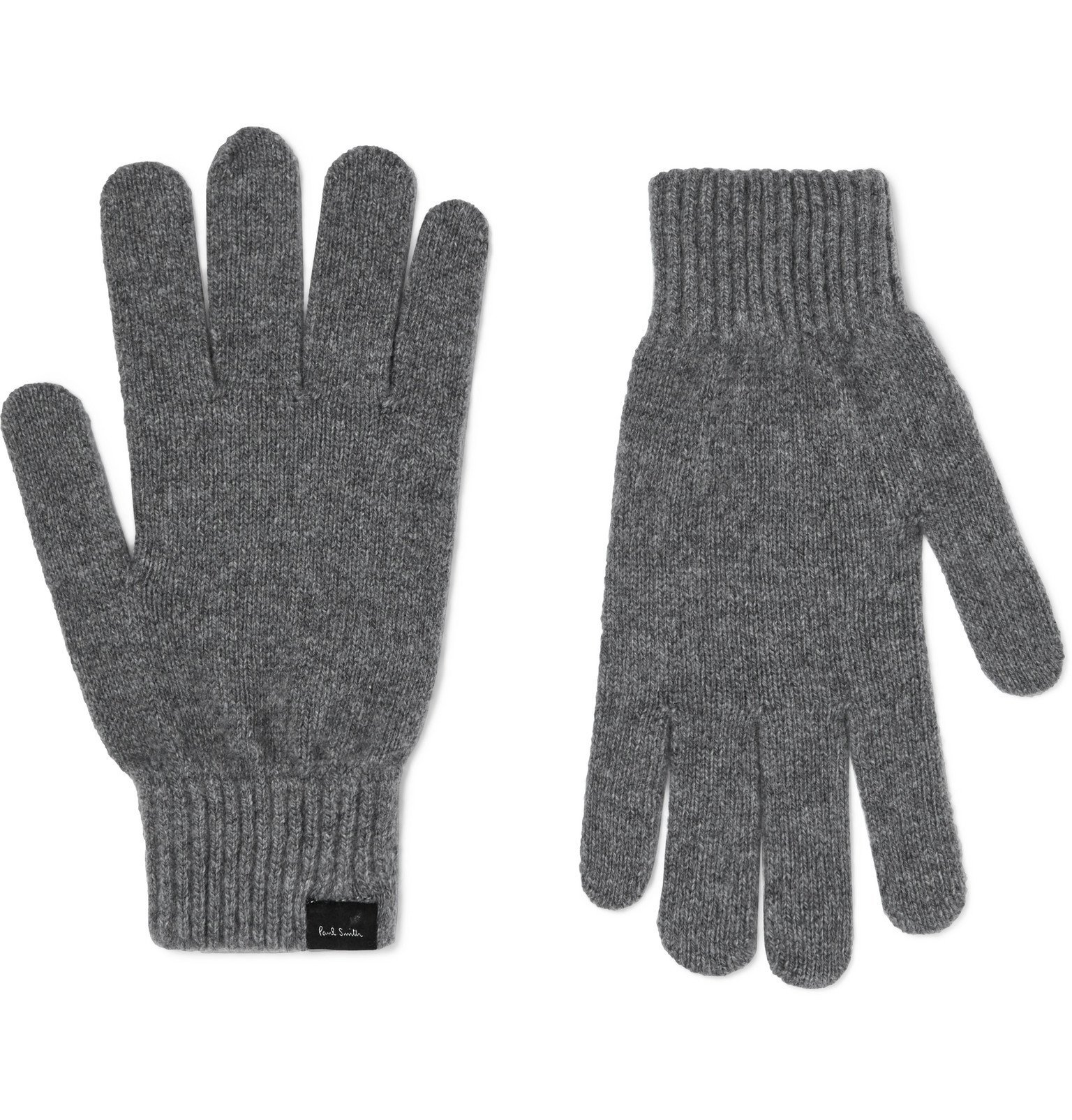 Photo: Paul Smith - Cashmere and Wool-Blend Gloves - Gray