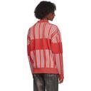 Martine Rose Red Zip Prysm Sweater