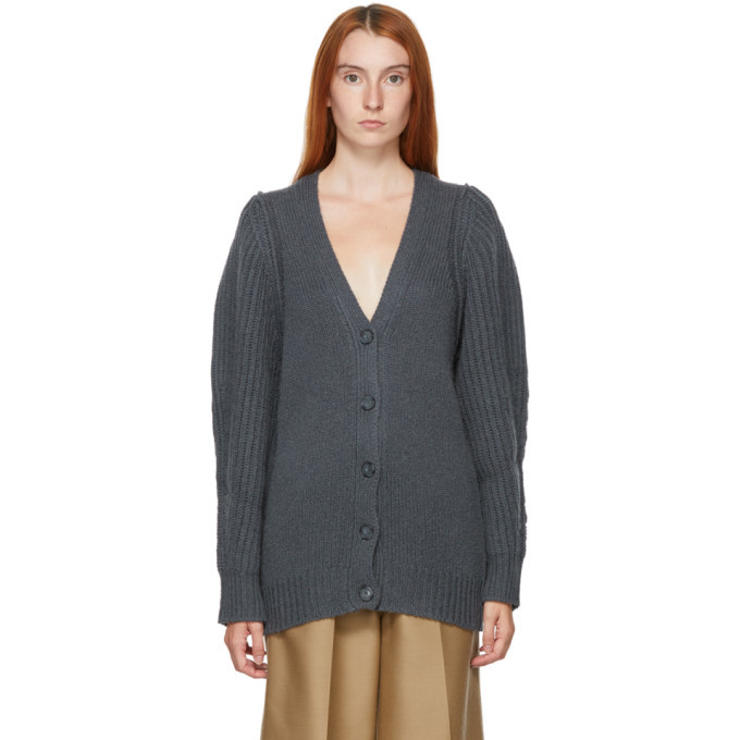 Stella McCartney Grey Puff Sleeve Cardigan