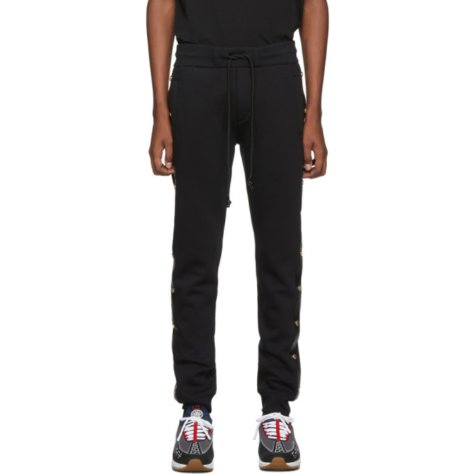 Photo: Versace Jeans Couture Black Side Stud Jogger Lounge Pants
