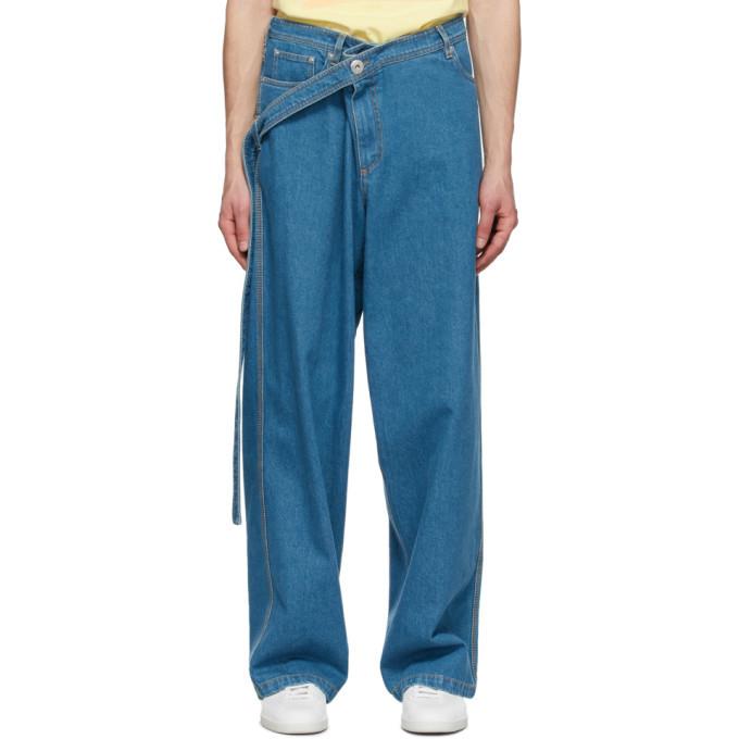 Photo: Lanvin Blue Large Belted Jeans