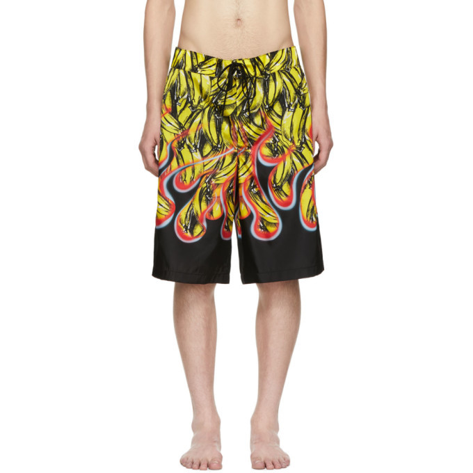 Photo: Prada Black Flame Bermuda Swim Shorts