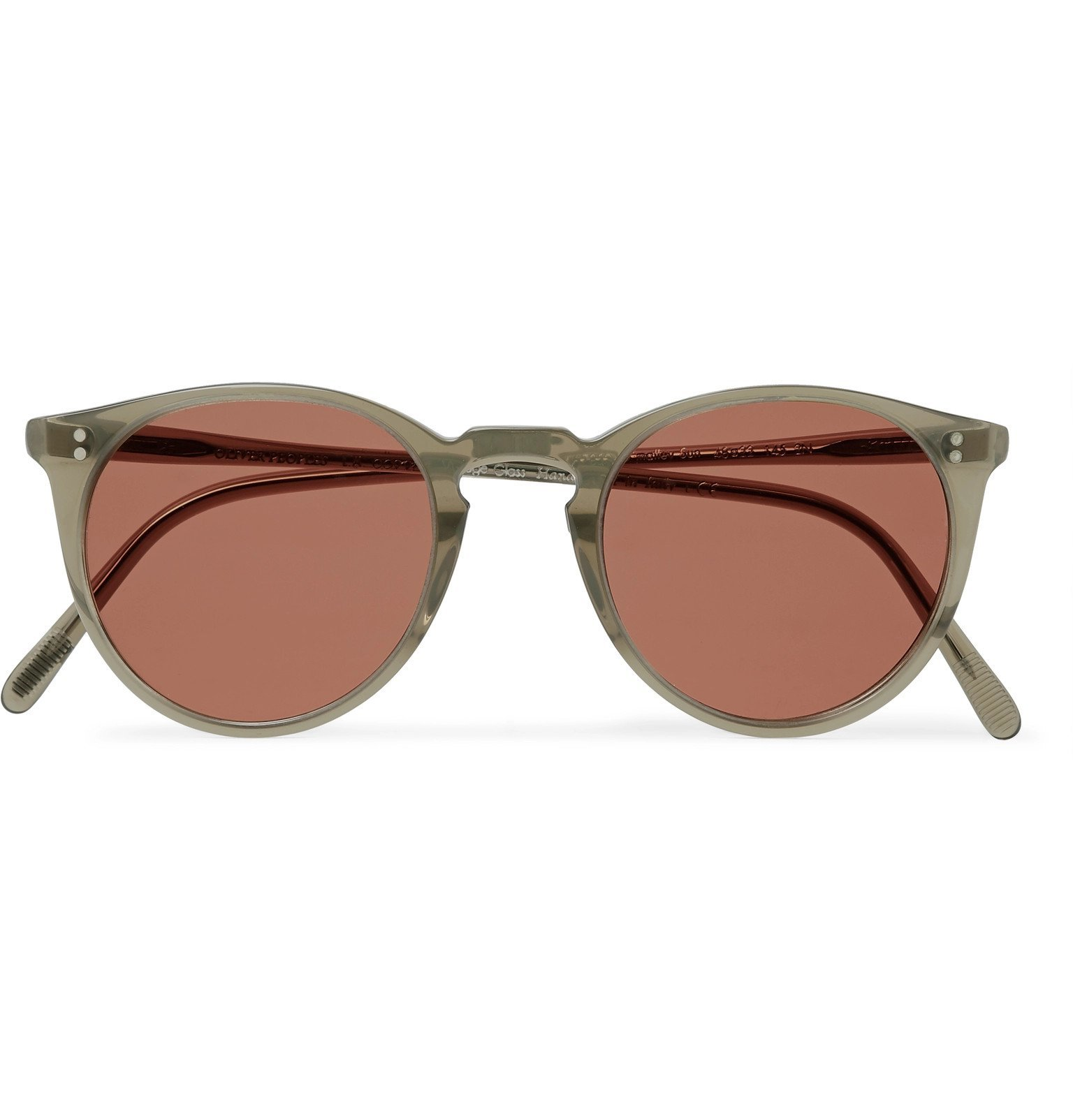 Oliver Peoples - O'Malley Round-Frame Acetate Sunglasses - Green