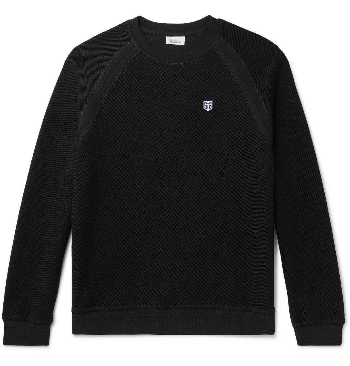 Schiesser - Frank Slim-Fit Cotton-Jersey Sweatshirt - Black