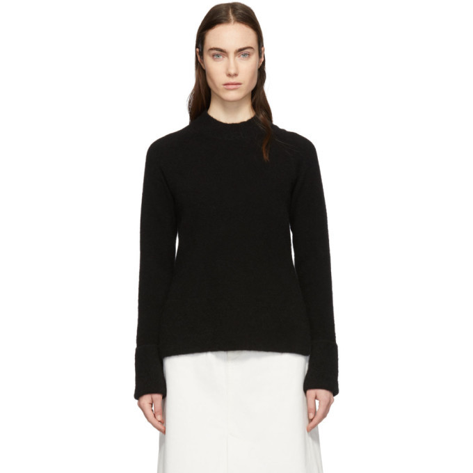 3.1 Phillip Lim Black Lofty Raglan Sweater