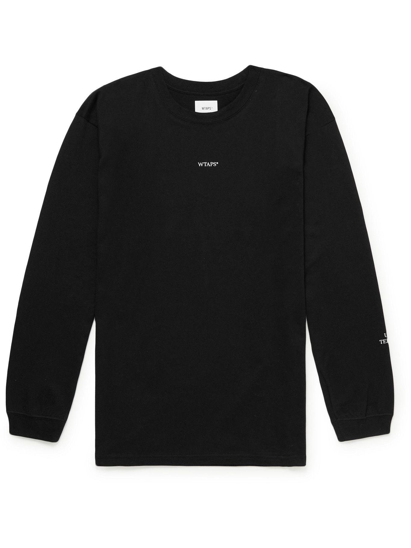 Photo: WTAPS - Logo-Print Cotton-Jersey T-Shirt - Black