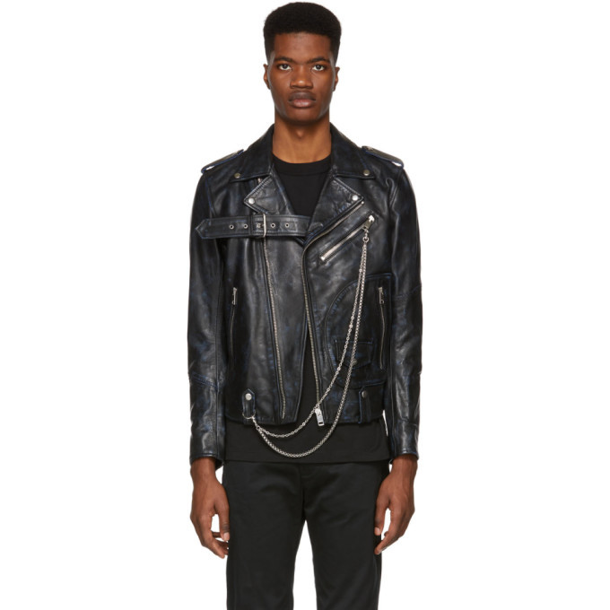 Photo: Diesel Black Leather L-Kio Jacket