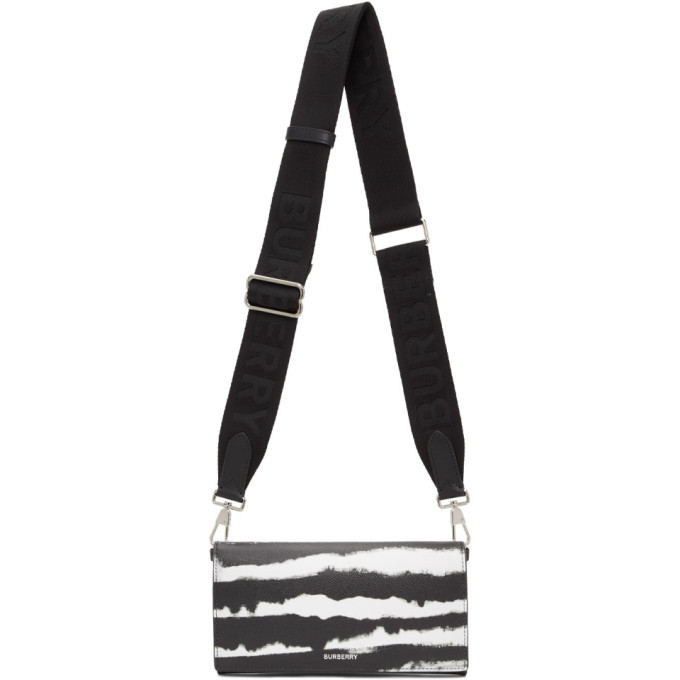 Photo: Burberry Black and White Leather Ollie Zebra Wallet