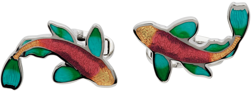 Photo: Paul Smith Silver & Multicolor Graphic Cufflink