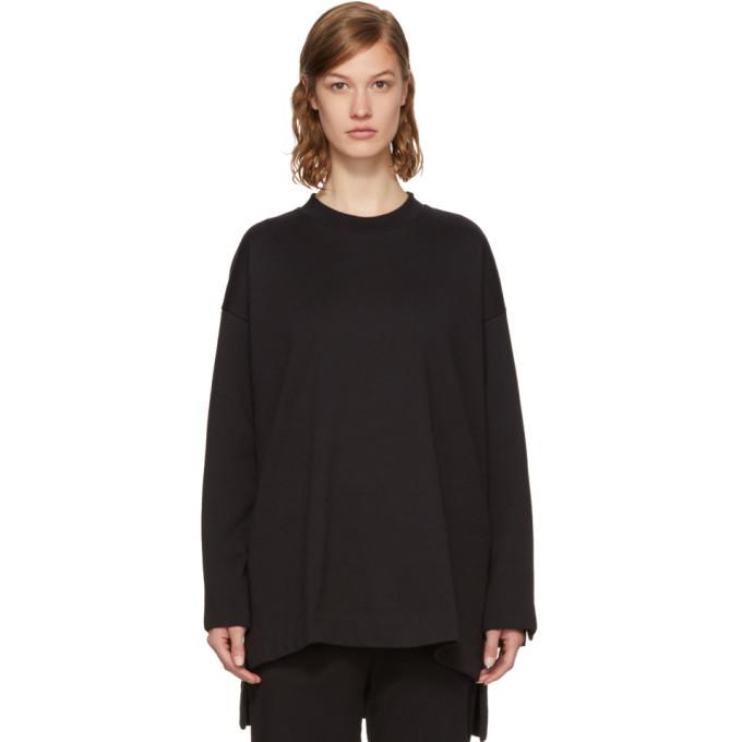 Photo: Y-3 Black Bold Three-Stripes Sweatshirt