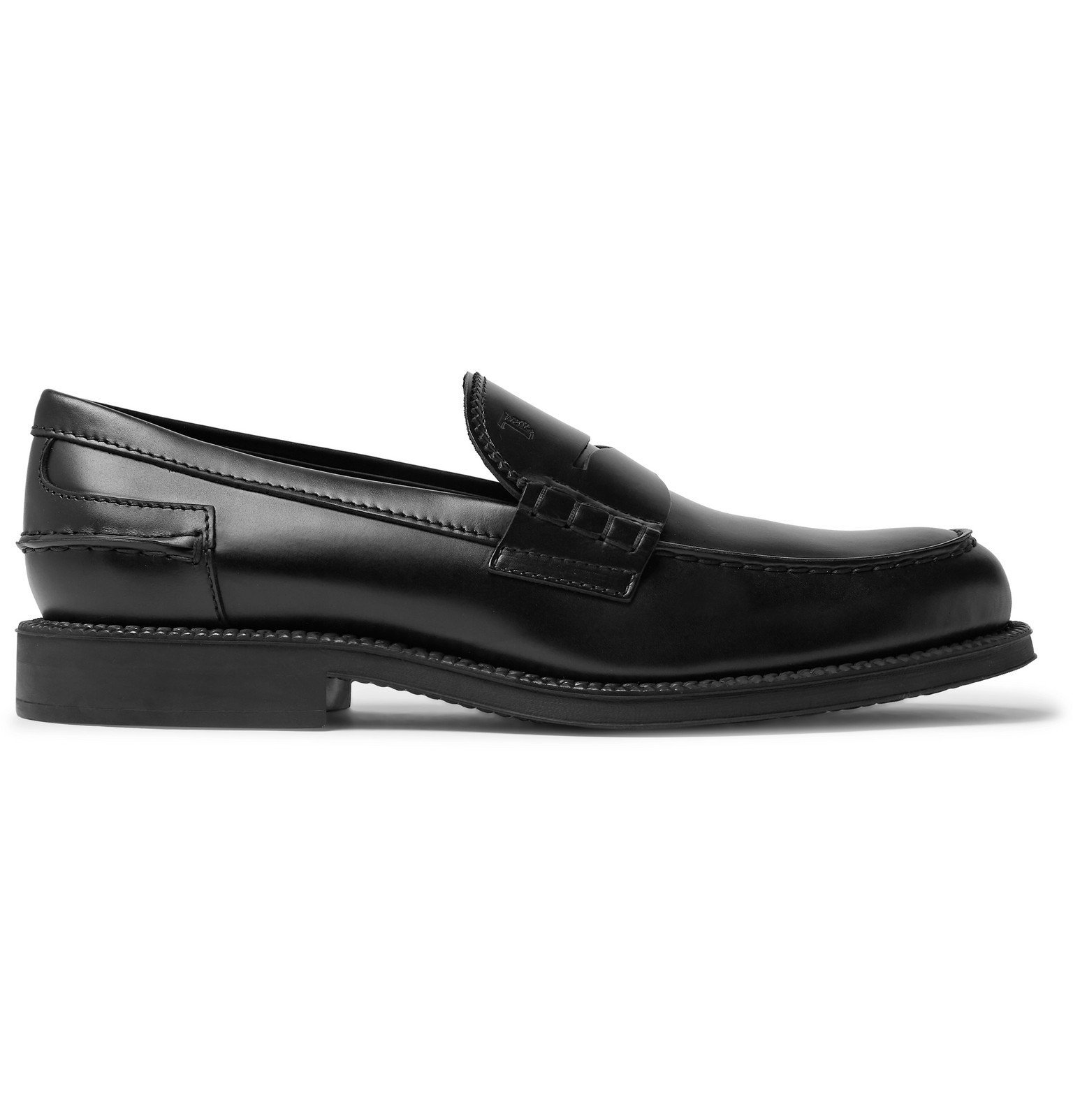 Tod's - Leather Penny Loafers - Black