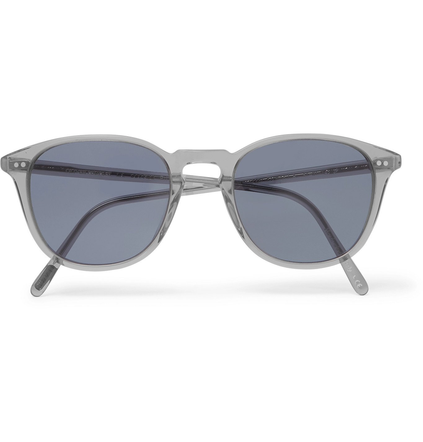 Photo: OLIVER PEOPLES - Forman L.A Round-Frame Acetate Polarised Sunglasses - Gray