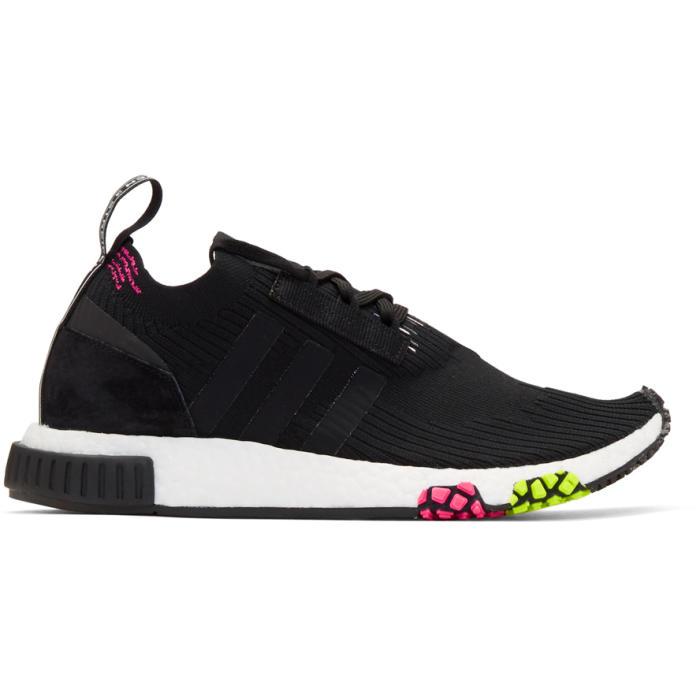 adidas Originals Black and Pink NMD Racer PK Sneakers