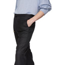 Raf Simons Black Wool Turn-Up Trousers