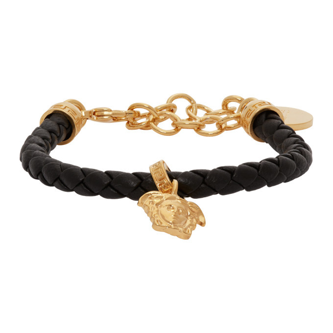 Photo: Versace Gold Leather Medusa Bracelet