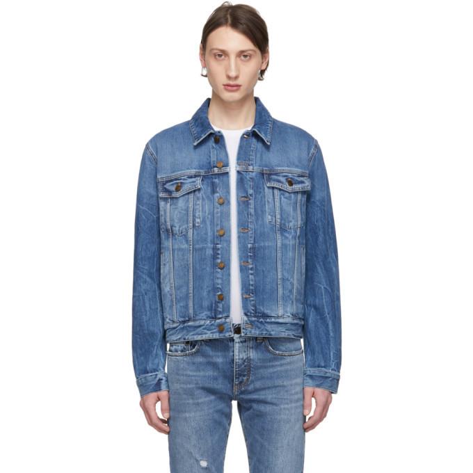 Photo: Saint Laurent Blue Denim Classic Jacket