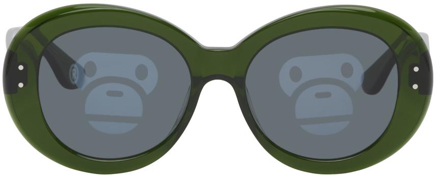 Photo: BAPE Green BS13014 Sunglasses