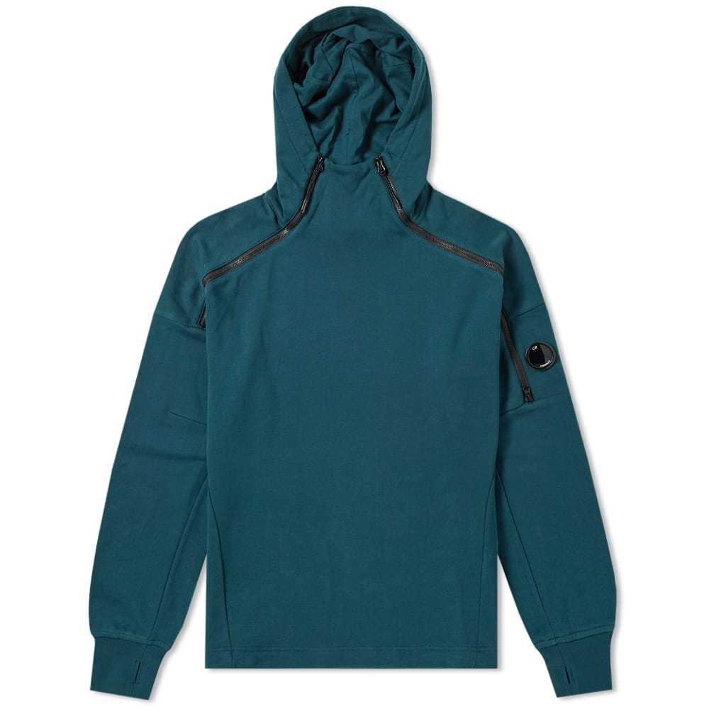 Photo: C.P. Company Tech Zip Arm Lens Popover Hoody Green