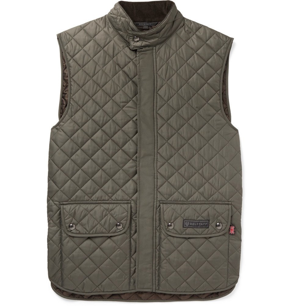 Belstaff - Slim-Fit Quilted Shell Gilet - Men - Green