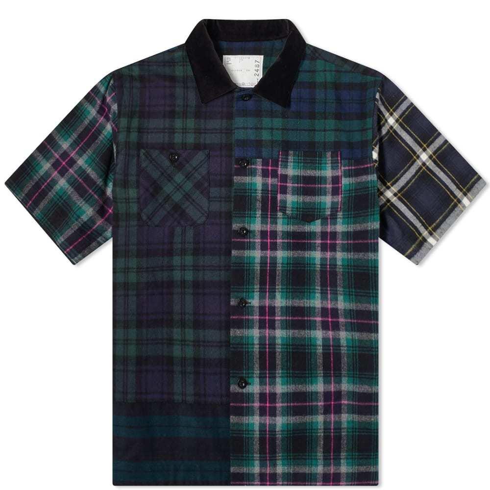 Sacai Flannel Plaid Mix Shirt