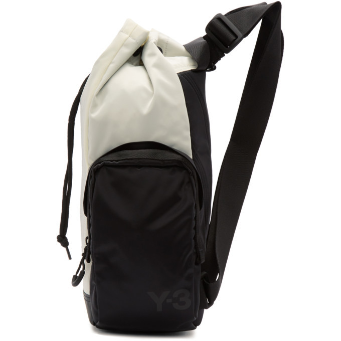 Y-3 Off-White and Black Mini Yohji Letters Backpack