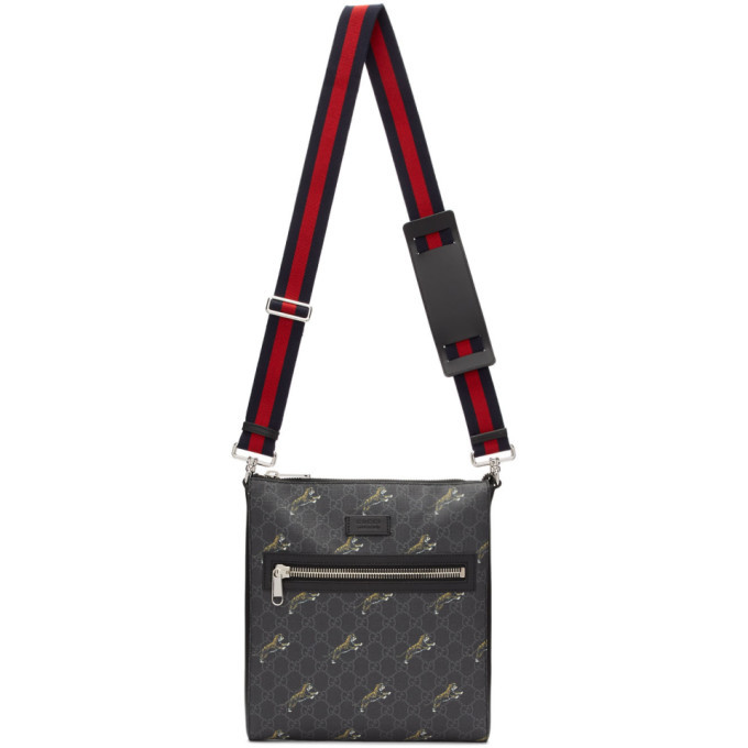 Photo: Gucci Black GG Supreme Tiger Bag