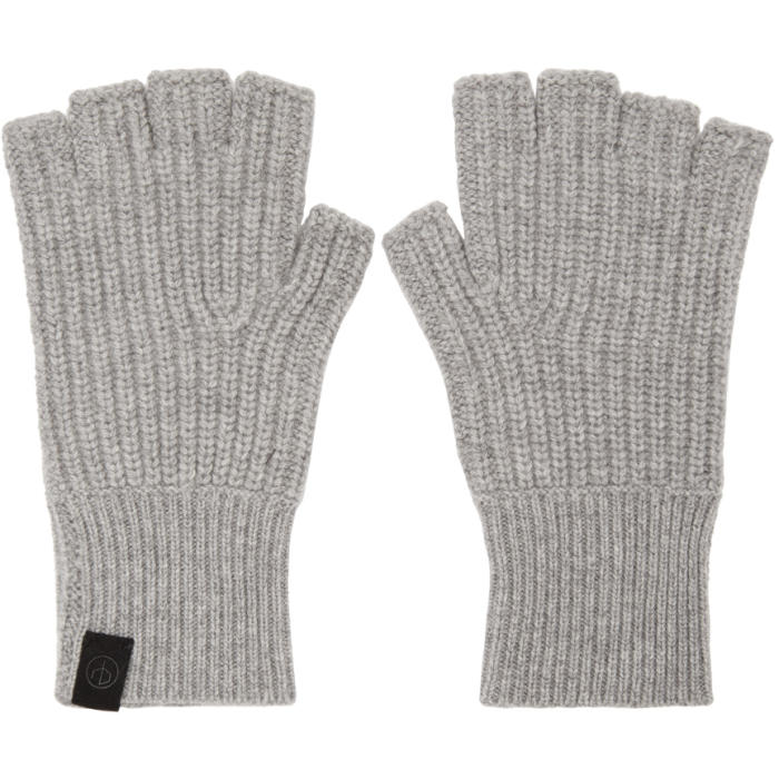 Photo: Rag and Bone Grey Cashmere Ace Gloves