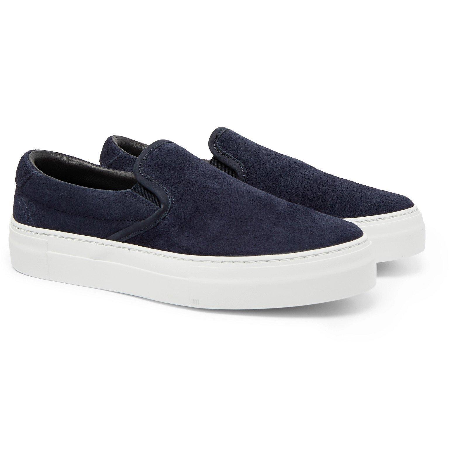 Photo: Diemme - Garda Suede Slip-On Sneakers - Blue