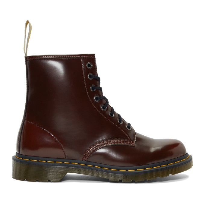 Photo: Dr. Martens Burgundy Vegan 1460 Boots